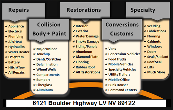 Conversion, Restorations Auto, Rv, Trailer, Food Truck Las Vegas NV